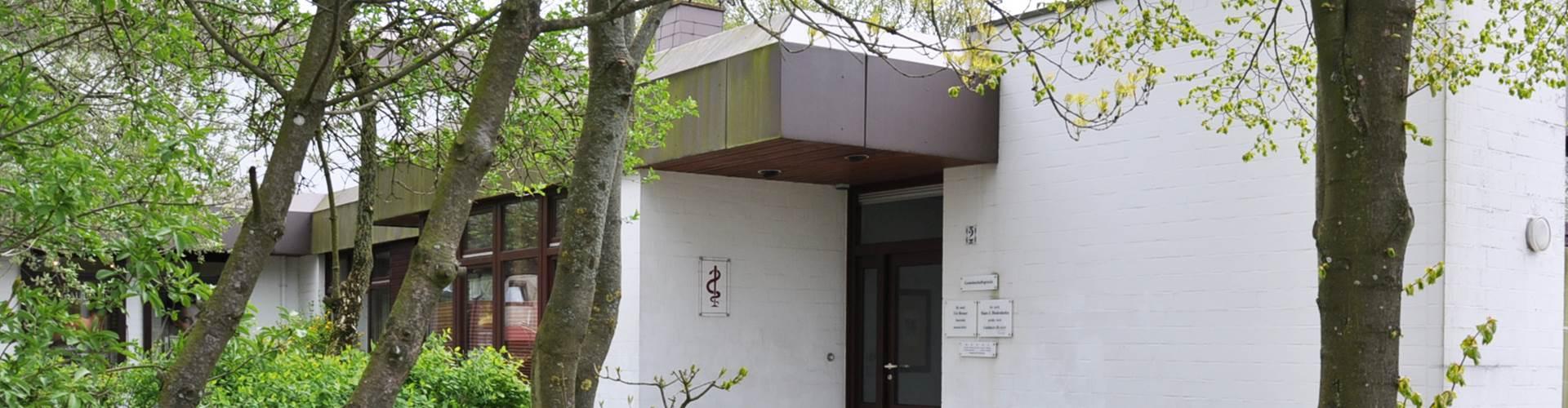 Eingang zur Arztpraxis Wankendorf